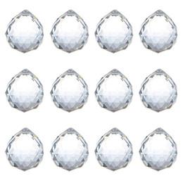 Prismas de vidrio colgantes online-40 mm bola de cristal prisma de cristal bola de cristal araña decoración colgante facetado bolas de prisma bolas de boda decoración para el hogar