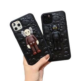 iphone luxus spiegel galvanisieren Rabatt Luxus-Telefonkästen für iPhone 11 pro max XS XR 8 7 und Cartoon Retro-Muster Tropfen Schutzabdeckung Modedesigner Telefonabdeckung