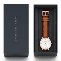 2019 calendário de negócios grátis Nova Moda de Alta Qualidade Daniel Wellington Clássico Relógios Mens 40mm Womens 36mm Pulseira De Couro Genuíno De Quartzo DW Relógio de Pulso de Designer de Relógios