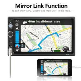 "golf gps telefonieren Rabatt 7"" Bluetooth-Stereo-Multimedia-Player MP3-MP5 Audio Stereo Mirrorlink 2Din Autoradio SD FM Lenkrad-Fernbedienung"