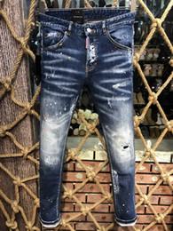 8838790281a 2019 шлифовальные джинсы 2019 новый бренд модных европейских и американских  мужских повседневных джинсов d2