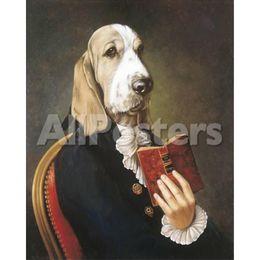 прекрасные картины Скидка Ручной холст искусство Тьерри Понселе картины Месье Дюма прекрасные собаки живопись для декора стен