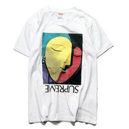 2019 tees de tendencia suprême camisetas mujer abstracta impresión de avataje camisetas verano popular para hombre de manga corta venta caliente tendencia camiseta casual pareja cómoda tees de tendencia baratos