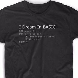 computer divertenti Sconti 2019 Divertente linguaggio di programmazione di base Computer T Shirt Retro Video Game Geek Funny Nerd Tee Tees
