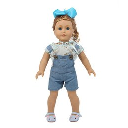 gothic toys Promo Codes - Fashionable Overalls Summer Short Pants Overalls 18 inch Our Generation OG AG Doll Cloth