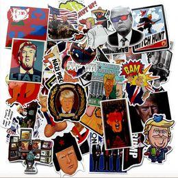 Guitarra divertida online-Trump Graffiti Sticker Creativo Divertido Trump Refrigerador Juguete Guitarra Irregular Nuevo DIY Etiqueta impermeable 55pcs / Lot