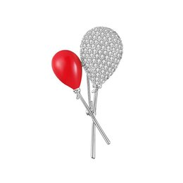 Lutscherkleider online-2019 Nette Trend Persönlichkeit Kupfer Brosche Roten Ballon Lollipop Brosche Kleid Rucksack Schmuck Zubehör Hohe Qualität
