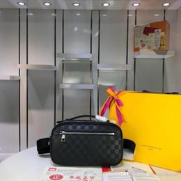 Дизайнеры LoVuitto Damier Графитовый амблер N41289 Fanny Pack Bum Bag Размер: 29 * 19 * 5 см от