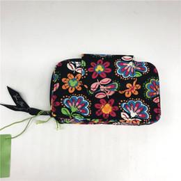 Idea di regali di anniversario online-Borse da donna di lusso Smartphone Wristlet Anniversary Midnight Floral Teenager Mini Bags con Id Window Girls Gifts Ideas
