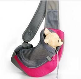 luz - saco cor-de-rosa do cão Desconto Dog Cat Sling saco de malha Pet Transportadora Cross ombro bag permeável ao ar mochila com tipos coloridos ao ar livre viagem Animal trazer ferramentas