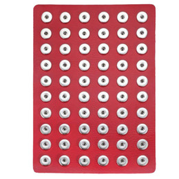 bague en plastique en chine Promotion Nouveau Noosa Snap Bijoux En Cuir Noir 18mm Snap Button Supports D'affichage Fit pour 60pcs 18mm 20mm Snap Boutons Présentoir Doux