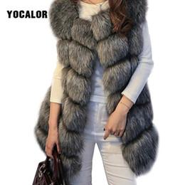 cappotto di pelliccia di volpe di lusso Sconti Cappotto in pelliccia sintetica Cappotto in pelliccia femminile Luxury Silver Fox Giacca invernale donna calda di alta qualità Gilet Veste 4XL Cappotti di capispalla