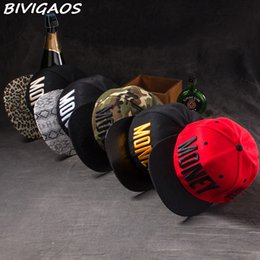 swag hats Coupons - New Fashion Men Womens Casual Snapback Hats Swag MONEY Letters 3D Embroidery Hip Hop Cap Baseball Caps Bone Gorras For Men Women