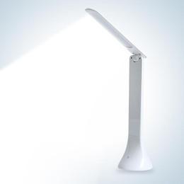 2019 luz da mesa led fold LEVOU Lâmpada de Mesa Regulável Toque Livro Luz de Carregamento USB Luz de Leitura Carregável Candeeiro de Mesa Portátil Lâmpada Dobrável luz da mesa led fold barato