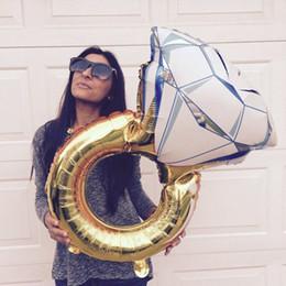 balão de diamante Desconto 32 Polegada grande anel de balões de diamantes anel de folha balões Inflável festa de aniversário de casamento decoração enorme anel de diamante balões