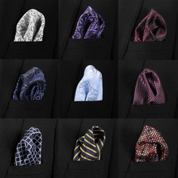 Vangise Mens Pocket Squares Solid Pattern Blue Fazzoletto Fashion Hanky For Men Business Suit Accessori 22cm * 22cm da