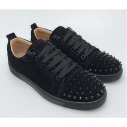 Talons bas en Ligne-Top Low Cut Spike designer luxe bas rouge chaussures unisexe hommes femmes fond rouges talons Spikes mode Spikes cloutés Flats Sneakers