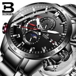 2019 механические часы Подлинная Роскошь Швейцария Бингер Марка Мужчины Автоматические Механические Светящиеся Водонепроницаемый Работает Полный Стальной Ремень Мужской Модные Часы J190709 скидка механические часы