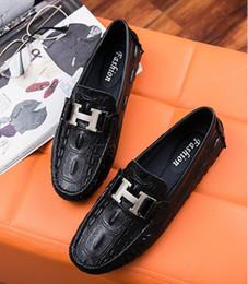 Chaussures de travail décontractées et respirantes en Ligne-Chaussures pour hommes Tendance européenne de la couleur unie en cuir de vachette et tête ronde respirant haut de gamme des affaires chaussures de sport pour hommes d2a50