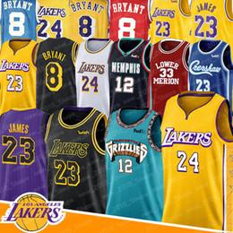 estrellas de baloncesto Rebajas los AngelesLakers NCAA Secundaria LeBron James 23 de todas las estrellas 8 Ja 12 Morant 2020 camiseta de baloncesto