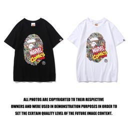 Padrões de camisa para homens grátis on-line-Verão Novo Dos Homens Das Mulheres Dos Desenhos Animados Padrão de Impressão Em Torno Do Pescoço T-shirt Adolescente Personalidade Casual Esportes Hip T-shirt Frete Grátis