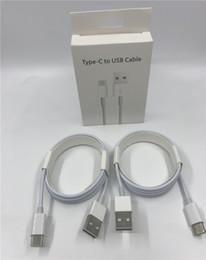2019 cabo iphone carregador cabos 1 M 7 Gerações Cabo Usb Top Quality Typc C Data Sync USB Cabo Carregador para o Telefone 5 6 7 plus 8 X Com Caixas De Varejo