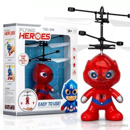 preço de fábrica com drones rc helicópteros Crianças Brinquedos de Natal com superman spiderman asseclas batman SYTLE voando brinquedo LED para Crianças quente de