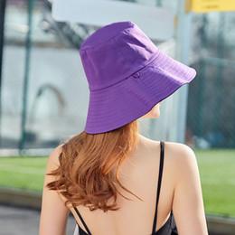 Mujer Verano Sombreros sólidos con cubos   Mujer Visera de playa reversible  y plegable 9c3e4673850