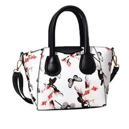 Sacos de sacos de flores on-line-Mulheres Pequeno Saco de Satchel Flor Borboleta Impresso Bolsa de Ombro Crossbody Bag bolsa feminina