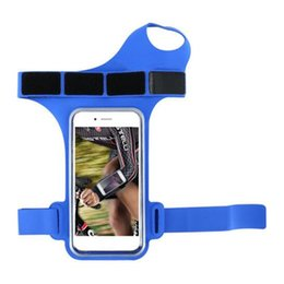 Противоугонный держатель телефона онлайн-Armband Holder Pouch Running Anti-theft Arm Band Pouch Phone Protective Cycling Arm Phone Bag Sport Waterproof Armband Bag