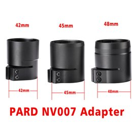 controllo della telecamera sms Sconti Adattatore digitale per visione notturna PARD NV007 42/45 / 48mm Adatta per Bayonet 3 misure per NV007 Visore notturno per 48mm