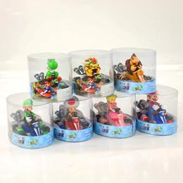 Super Mario Bros da corsa Modello Kart Goomba Troopa Bowser tirare indietro la bambola del fumetto Auto Figure con Box HHA1059 da piante vs zombie giocattoli all'ingrosso fornitori