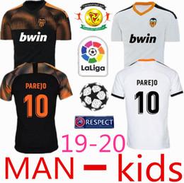 Argentina Nuevo 2019 Valencia Soccer Jersey Camiseta equipación del 2019 2020 niños Valencia Mejor camiseta de fútbol de calidad 3A Parejo Batshuayi Gameiro Suministro