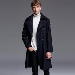 mens trench coat xs Sconti Nuovo cappotto di lana causale Mens di lusso doppio petto in lana stile britannico Giacca da uomo trench Plus Size 6xl Cappotto da uomo d'affari