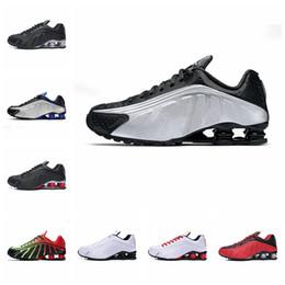 2019 homens, correndo, sapato, shox NIKE 2019 shox r4 homens mulheres tênis de corrida de alta qualidade NEYMAR OG COMETA VERMELHO RACER AZUL Preto Metallic mens formadores moda sports sneakers homens, correndo, sapato, shox barato