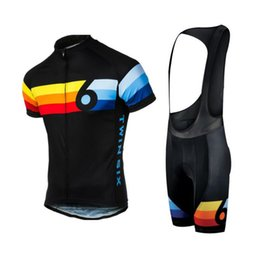 cool sportswear clothing Coupons - Men Gym Clothing Set Six Race Cycling Jersey Number 6 Quick-Dry Sports Jersey Cycling Clothing bicycle Sportswear Cool