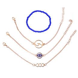 Estilo de personalidad Cadena de cuentas azules Ojo del diablo Ola Ojos Conjunto de brazaletes de tres amores desde fabricantes