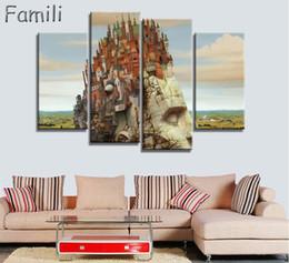 Canada 4pcs photos de famille d'éléphant aquarelle peintures murales abstraites Art toile impression sur toile Arts Cuorros Decoracion affiche et imprimé cheap elephant art paintings Offre