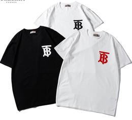 2019 tb großhandel 2019 neue tee bbr männer frauen TB brief logo muster drucken T-Shirt kurzarm Oansatz T-Shirt großhandel S-XXL günstig tb großhandel