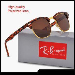 occhiali da sole senza ori Sconti 15 colori da scegliere Brand Designer Uomo Donna Occhiali da sole polarizzati Semi occhiali da sole senza montatura Occhiali da sole con montatura in oro montatura Polaroid con cassa e scatola marrone