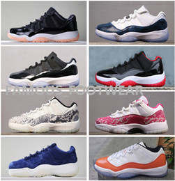 Best Quality Light Bone Scarpe da pallacanestro da uomo 11 Baroni Bleached da donna in corallo Blu Navy Rosa in pelle di serpente RE2PECT retrò scarpe basse da