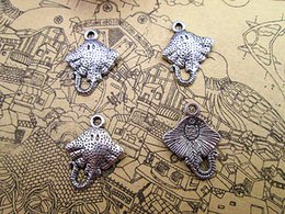 Stachelrochen online-30pcs - Stingray Charms Antik Tibet Silber Stingray Charms Anhänger 15x17mm