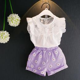 97fc42fb1e2d4 Paño de bebés dulces online-Baby Girl Clothes Set 2019 Nuevo Verano Dulce  Camisa Top