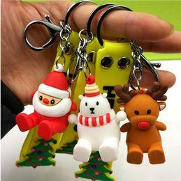 Anahtarlık Kolye Hediye Çocuk oyuncakları anahtar kolye Yaratıcı hediyeler 2 inç Karikatür Noel Baba Kardan Adam Ren Geyiği Yumuşak Bebek YSY93 cheap soft toy chain nereden yumuşak oyuncak zincir tedarikçiler