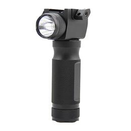 Torcia elettrica di caccia principale rossa online-Tactical Quick Detachable Vertical Fore Grip Rifle LED Flashlight Caccia Gun Light con laser rosso integrato