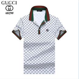 2019 верхние рубашки поло Лето 2019 Top Designer Leisure Deluxe футболка с коротким рукавом 100% хлопок, рубашка поло, мужская футболка поло, мужская футболка бренда 8171 скидка верхние рубашки поло