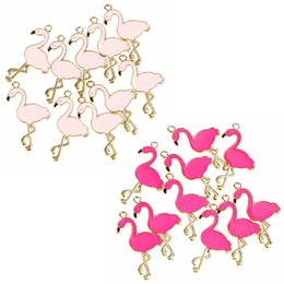 2019 ожерелья с белками 10pcs Trendy Alloy Flamingo Squirrel Enamel Charms Lovely DIY Pendant Handmade Jewelry For Necklace Bracelet дешево ожерелья с белками