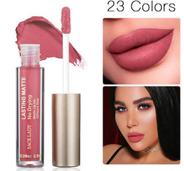 Tinte naturali della labbra online-23 colori rossetto liquido trucco non essiccazione Matte Lip Stick Long Lasting Nude Lip Gloss Tint Natural Brand Cosmetic