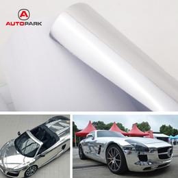 Hojas de adhesivos espejados online-Car Styling Chrome Mirror Silver Vinyl Sticker Decal Film Sheet Auto-adhesivo burbuja de aire libre decoración 12 pulgadas * 60 pulgadas