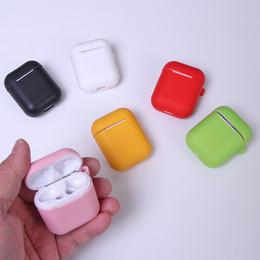 2019 auricolari per iphone .5s plus Auricolari colorati in morbida custodia in silicone per Apple Airpods Auricolari Bluetooth senza fili Custodia protettiva per la custodia della pelle per baccelli d'aria Borsa per baccelli